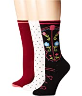 Kate Spade New York - Western Boot 3-Pack Trouser Socks
