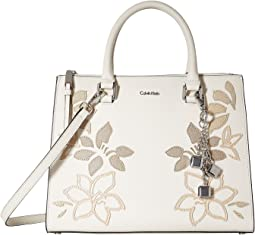Floral Applique Satchel