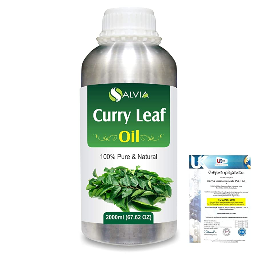 ストレスの多い習熟度気体のCurry Leaf (Murraya koenigz) 100% Natural Pure Essential Oil 2000ml/67 fl.oz.