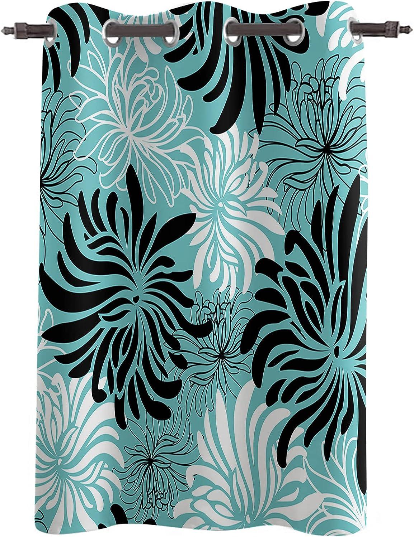 Darkening Blackout Window Curtains Drapes Nashville-Davidson Mall Floral Length 96
