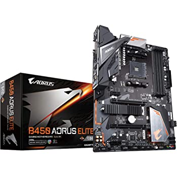 GIGABYTE B450 AORUS ELITE (AMD Ryzen AM4/ATX/M.2 Thermal Guard/Hmdi/DVI/USB 3.1/DDR4/Motherboard)
