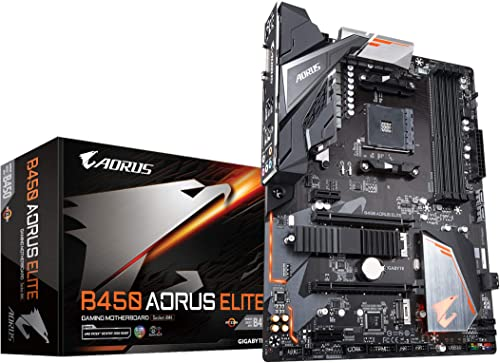 GIGABYTE B450 AORUS Elite (AMD Ryzen AM4/ M.2 Thermal Guard/HMDI/DVI/USB 3.1/DDR4/ATX/Motherboard) product image