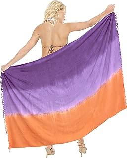 LA LEELA Women's Hawaii Sarongs for Women Plus Size Beach Wrap Hand Tie Dye