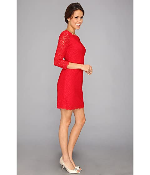 Papell rojo L de vestido encaje S Adrianna gSqCBwB