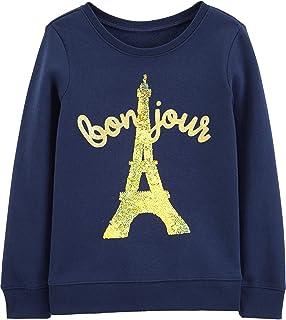 OshKosh B'Gosh Girls' Sequin Crew Neck Sweatshirt
