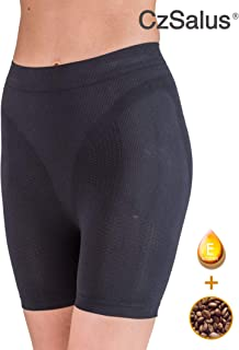 Pantaloncito corto anti-celulítico. vaina con funda interna sin costuras con la cafeína + vitamina E