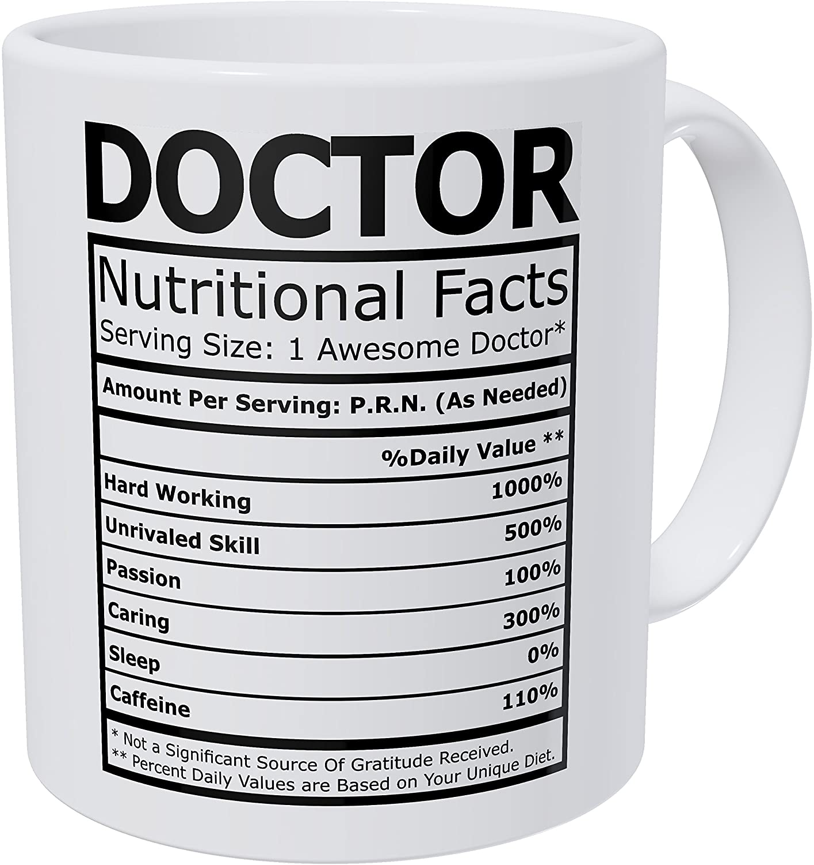 Wampumtuk Doctor Nutritional Fatcs 11 Ounces Funny Coffee Mug