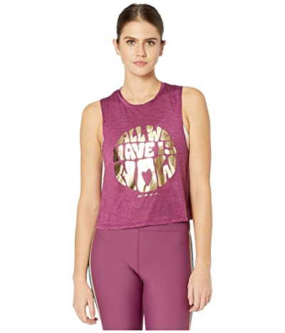 Spiritual Gangster Active Crop Tank (All We Wildberry) Women