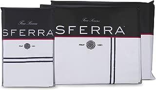Sferra Grande Hotel Sheet Set - King - White/Navy