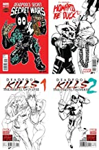 Run the Jewels Variant Set - Deadpool's Secret Secret Wars #1, Howard the Duck #2, Deadpool Kills the Marvel Universe 1-2 - Bundle of Four (4) Marvel Comics