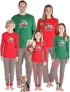 SleepytimePJs Christmas Family Matching Pajamas Knit Red Green Striped PJ Sets