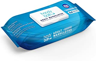 Handybath Incontinence Adult Washcloths unscented for Senior Care or Outdoor Activities - Extra Large 12 x 9