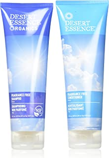 Desert Essence Fragrance Free Shampoo & Conditioner Bundle - 8 Fl Ounce - Pure - Vitamin B5 - Green Tea - Softer, Shinier ...