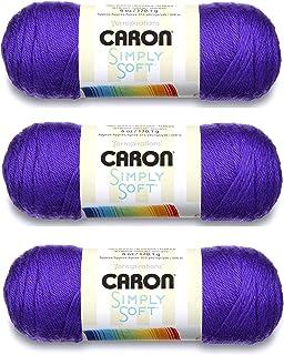Caron, Simply Soft knitting yarn, 3 pieces, bone_parent #H97003-9747 Iris
