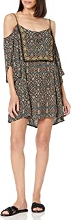 Lucy Love Women's Kenzie Printed Cold Shoulder Tunic Dress