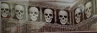 Halloween Wall Murals & Border Decorations Skeletons Cats Skulls Blood W4, Select: Type (Border: Skulls)