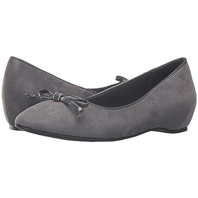 Soft Style Cahill (Dark Grey Faux Suede/Dark Grey Patent) Women