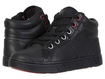 UGG Kids Boscoe Leather Sneaker (Toddler/Little Kid/Big Kid) (Black) Boy