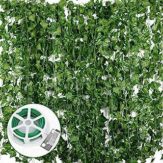 JNCH 24pcs*2m Lierre Plante Artificielle Exterieur Faux Lierre Feuillage Artificiel Feuille Guirlande Décoration Interieur...