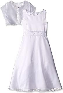 Girls' Satin and Organza Dress 2 Piece Sleeveless Princess Bodice Bolero