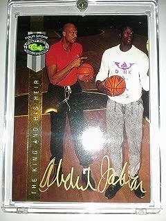 Kareem Abdul-Jabbar (Lakers) 1992 Classic Four Sport Gold Autograph - Classic COA - With SHAQ