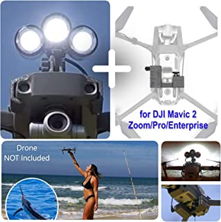 Professional Release and Drop Plus Device with LED Light Searchlight Bundle for DJI Mavic 2 Zoom/Pro/Enterprise/Dual, for Drone Fishing, Bait Release, Search & Rescue, Payload Delivery, Fun Activities