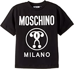 Moschino Kids - Short Sleeve T-Shirt w/ Logo on Front (Little Kids/Big Kids)