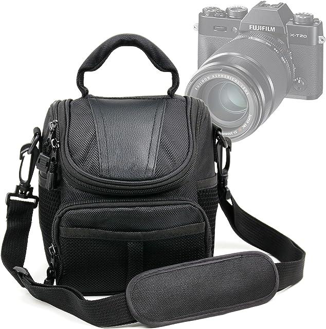 DURAGADGET Bolso para Cámaras Leica M10 | Nikon Coolpix A100 | A100 | Lumix DMC-TZ61 - con Asa Y Bandolera De Transporte - Compartimentos para la cámara fotográfica Accesorios