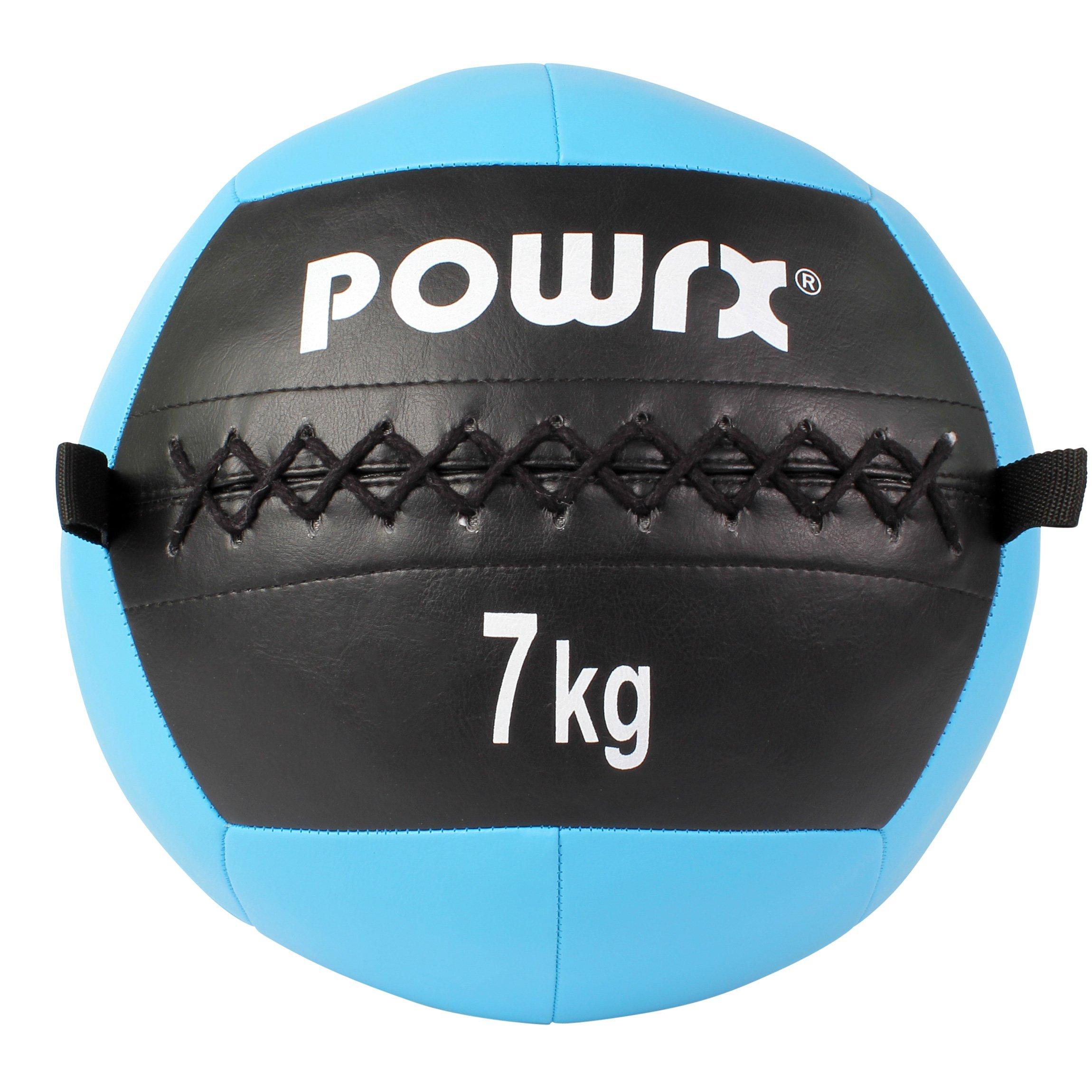 POWRX Wall Ball Balón Medicinal 7 kg - Ideal para Ejercicios de ...