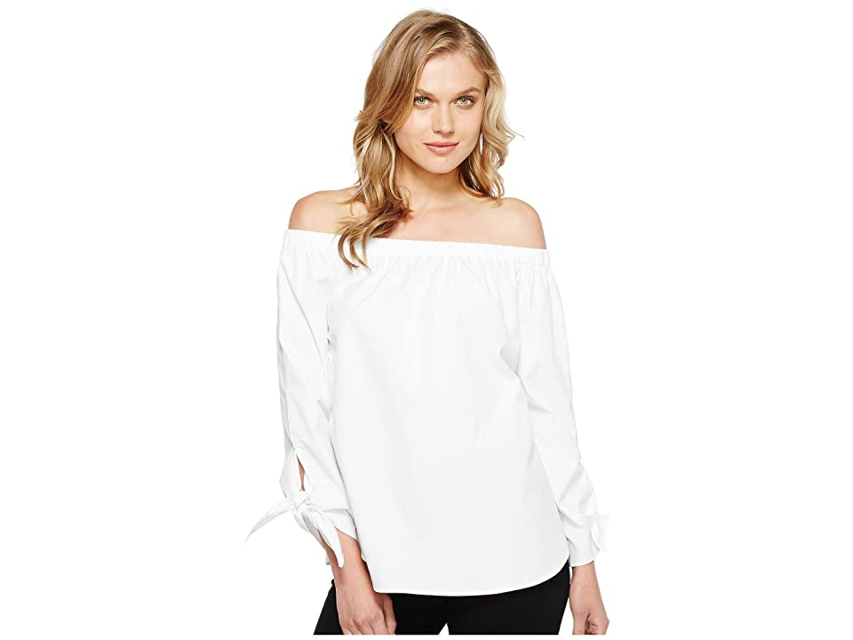 Karen Kane Off the Shoulder Tie Sleeve Top (White) Women