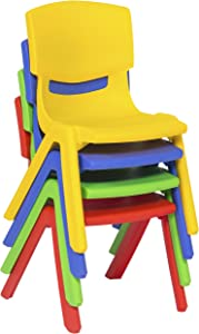 "Best Choice Products Multicolor Set of 6 Kids Plastic Stacking School Chairs Set, 10"" Height Colorful Stackable Seat"