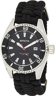 Invicta Pro Diver Men's Black Dial Nylon Band Watch - 26024
