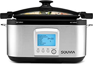 Souvia 8 in 1 Multi Cooker – 7 Quart - Programmable LCD Control Panel - 8 Preset Functions: Slow Cooker - Brown/Saute - Steam - Bake - Grill - Sear Meat - Stew - Yogurt- Locking Lid for Easy Travel