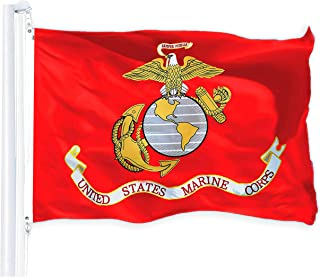 G128 - USMC US Marine Corps United States Marine Corps Flag 3x5 ft 150D Quality Polyester Printed Brass Grommets Indoor/Outdoor