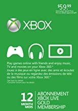 Microsoft Xbox 360 Live 12 Months Gold Card