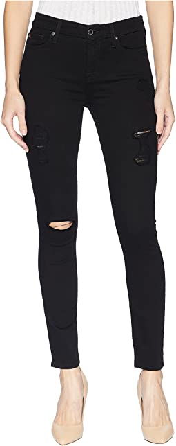B(Air) Ankle Skinny with Destroy in Black 3