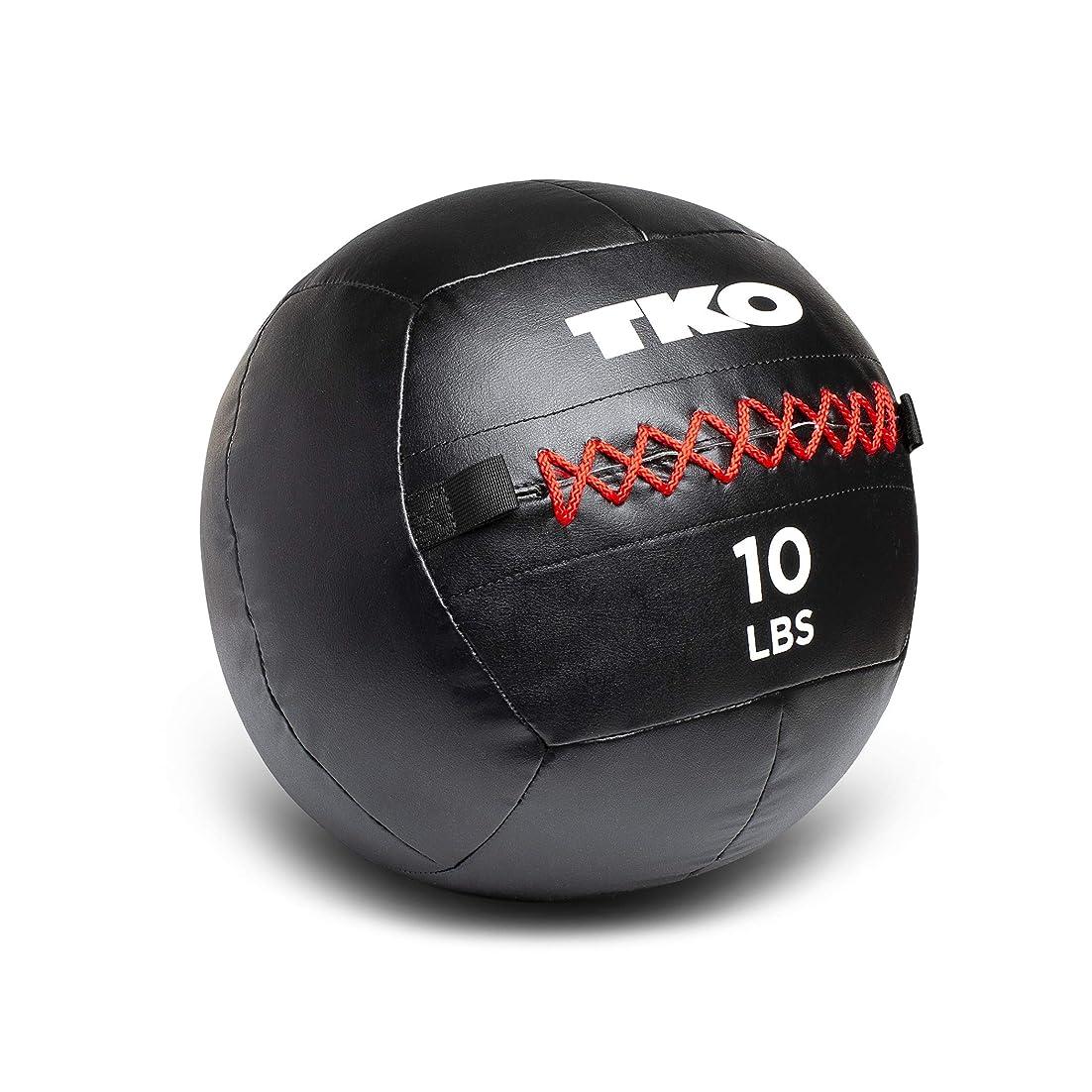 リフト真鍮市区町村TKO エクストリーム ウォールボール 10ポンド 強度とスタミナエクササイズ用 ブラック/レッド