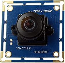 SVPRO 2MP CMOS OV2710 Wide Angle 180 Degree Fisheye Lens PC Web Camera Free Driver UVC Industrial Machine Vision USB Camera Module for Android Windows Mac OS(180 Degree megapixel fisheye Lens)