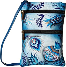 Anuschka Handbags - 448 Mini Double Zip Travel Crossbody