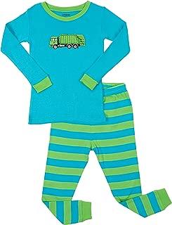 Kids & Toddler Pajamas Garbage Truck Train Boys 2 Piece Pjs Set 100% Cotton (Size 12 Months-14 Years)