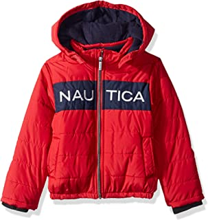 Nautica Boys Color Block Puffer Coat Quilted Jacket