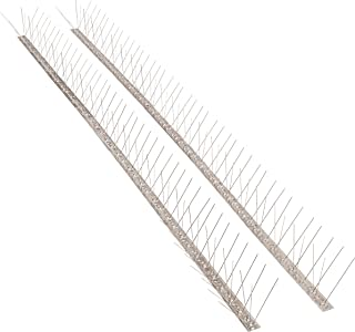 """Bird Blinder Stainless Steel Bird Spikes for Pigeons and Other Small Birds – Industrial 4"""" Wide Design Contains no Plastic - (33 Foot Coverage)"""