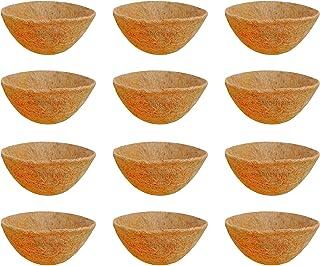 GARDEN KING 10 INCH ECO Friendly Coir Liner for Hanging Baskets (Set of 12 Pcs)