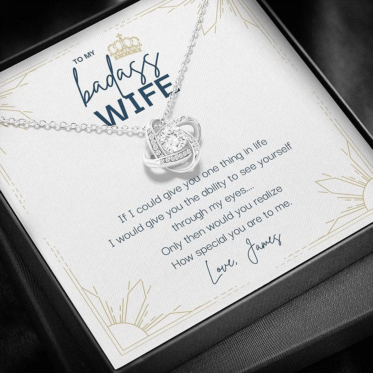 Badass Max 70% OFF Wife Necklace Husband Gift Long-awaited