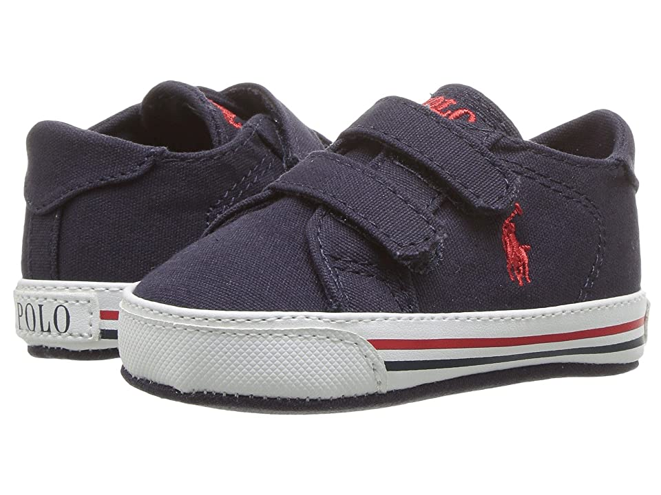 Polo Ralph Lauren Kids Easten EZ (Infant/Toddler) (Navy Canvas/Red Pony Player) Boy