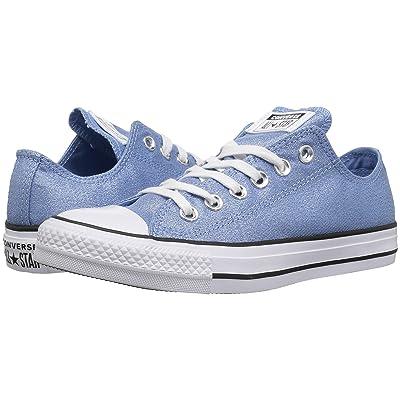 Converse Chuck Taylor All Star Precious Metals Textile Ox (Light Blue/White/Black) Women