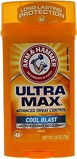 Arm & Hammer Ultra Max Invisible Solid Antiperspirant Deodorant, Cool Blast, 2.6 Oz