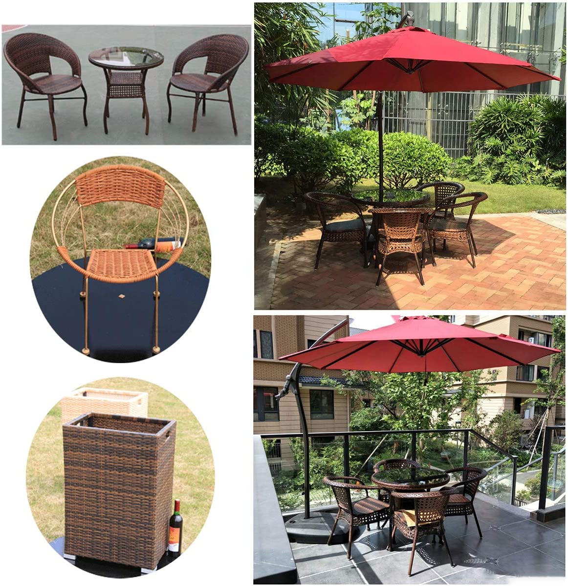 Storage Basket Synthetic Rattan Repair Knit Material Plastic Rattan for DIY Home Furniture Queenbox 3mmx10m Gradient Round Rattan Weaving Chair Table