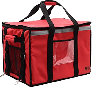 Insulated Food Delivery Bag for Catering, Doordash, Uber Eats, Grub Hub, or Postmates Drivers to Keep Your Food Hot or Cold - Large Size – Premium Commercial Quality Hot Food Carrier with Bike Straps