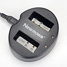 Newmowa Dual USB Charger for Canon LP-E17 and Canon EOS M3 M6 M6 Mark II 250D 750D 760D Rebel SL3 T6i T6s 8000D Kiss X8i Digital Cameras